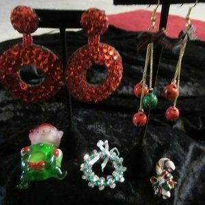 Vintage Christmas Jewelry (5 pcs)
